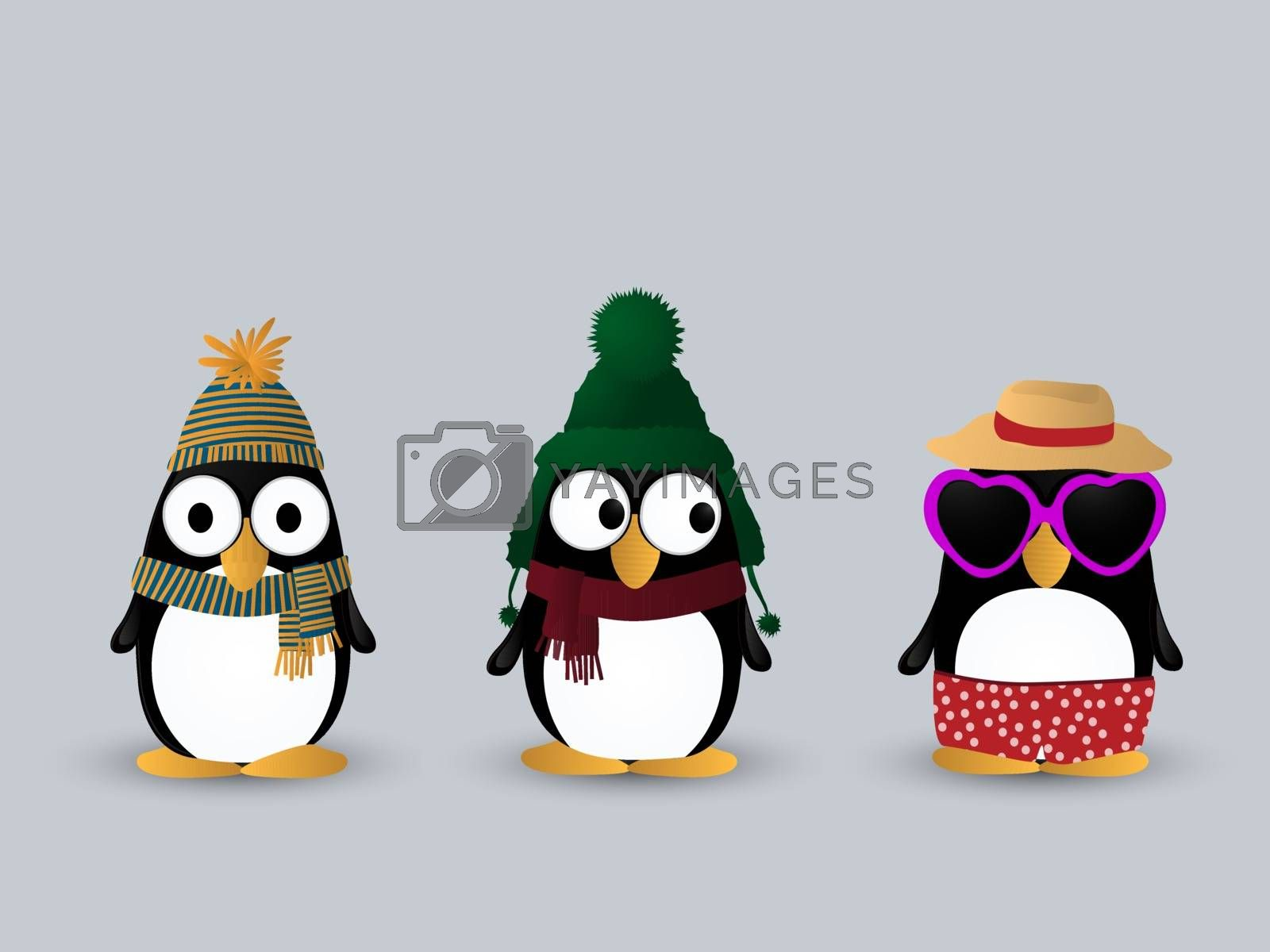 Royalty free image of Cute penguin characters by Lirch