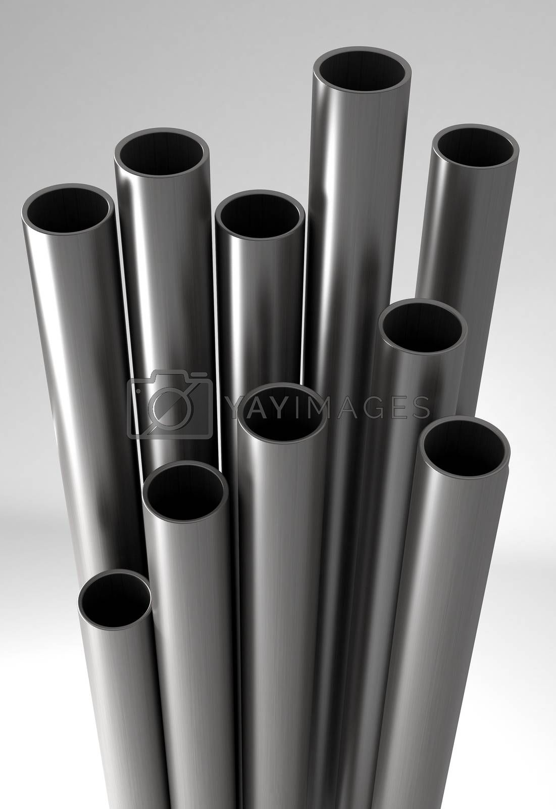 Royalty free image of Metal tubes. by klss