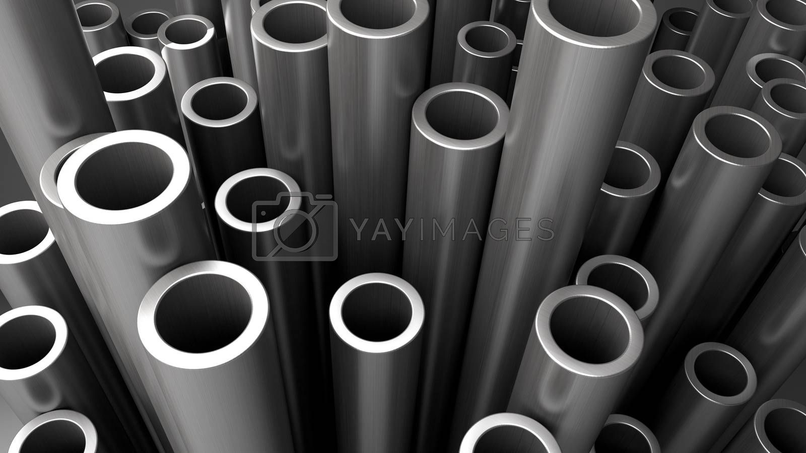 Royalty free image of Stack of steel pipes. by klss