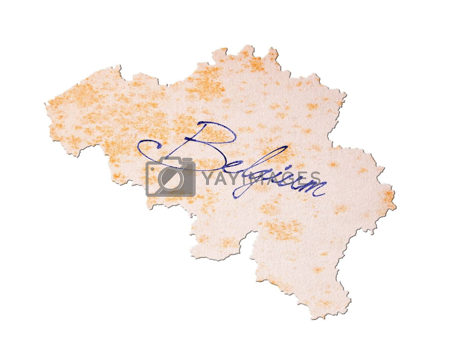 Royalty free image of Belgium - Old paper with handwriting by michaklootwijk