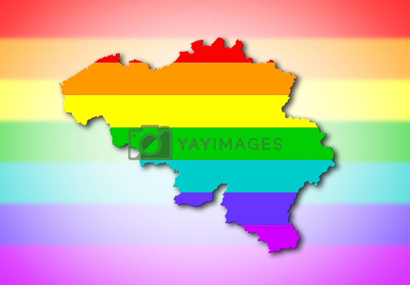 Royalty free image of Belgium - Rainbow flag pattern by michaklootwijk