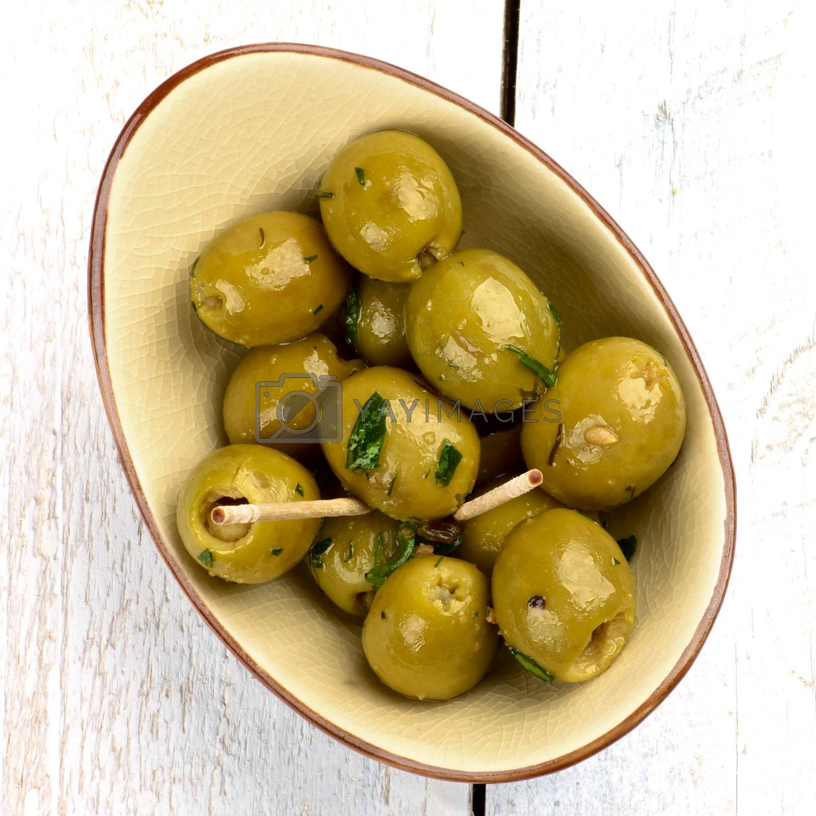 Royalty free image of Green Olives by zhekos
