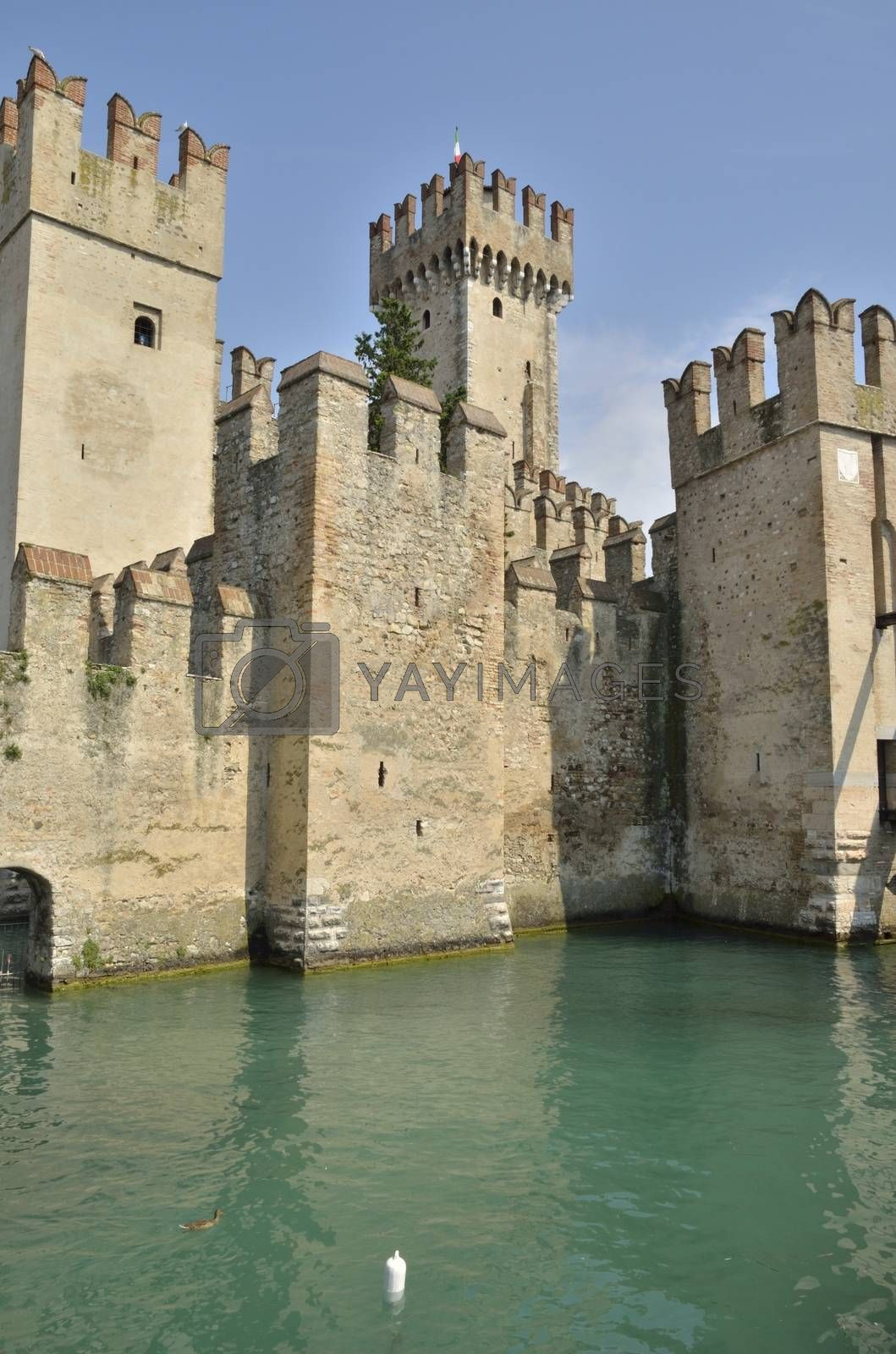 Royalty free image of Castle in Sirmione by monysasi