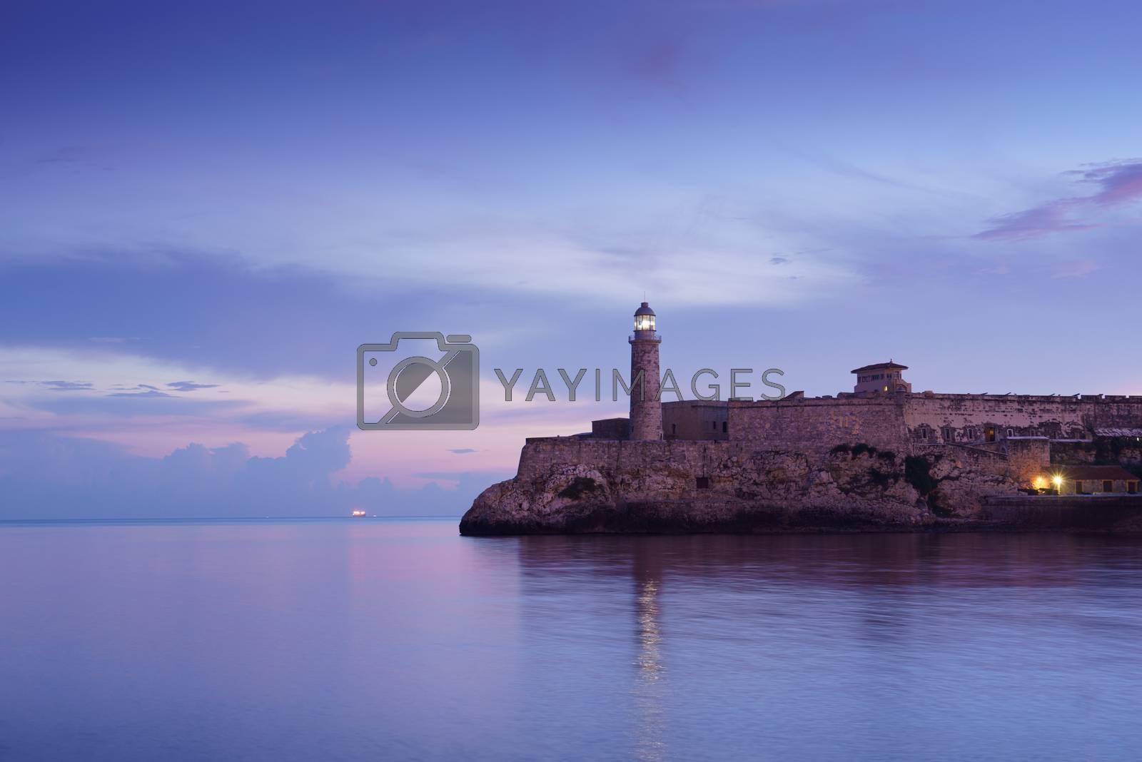 Royalty free image of Cuba, Caribbean Sea, la habana, havana, morro, lighthouse by diego_cervo