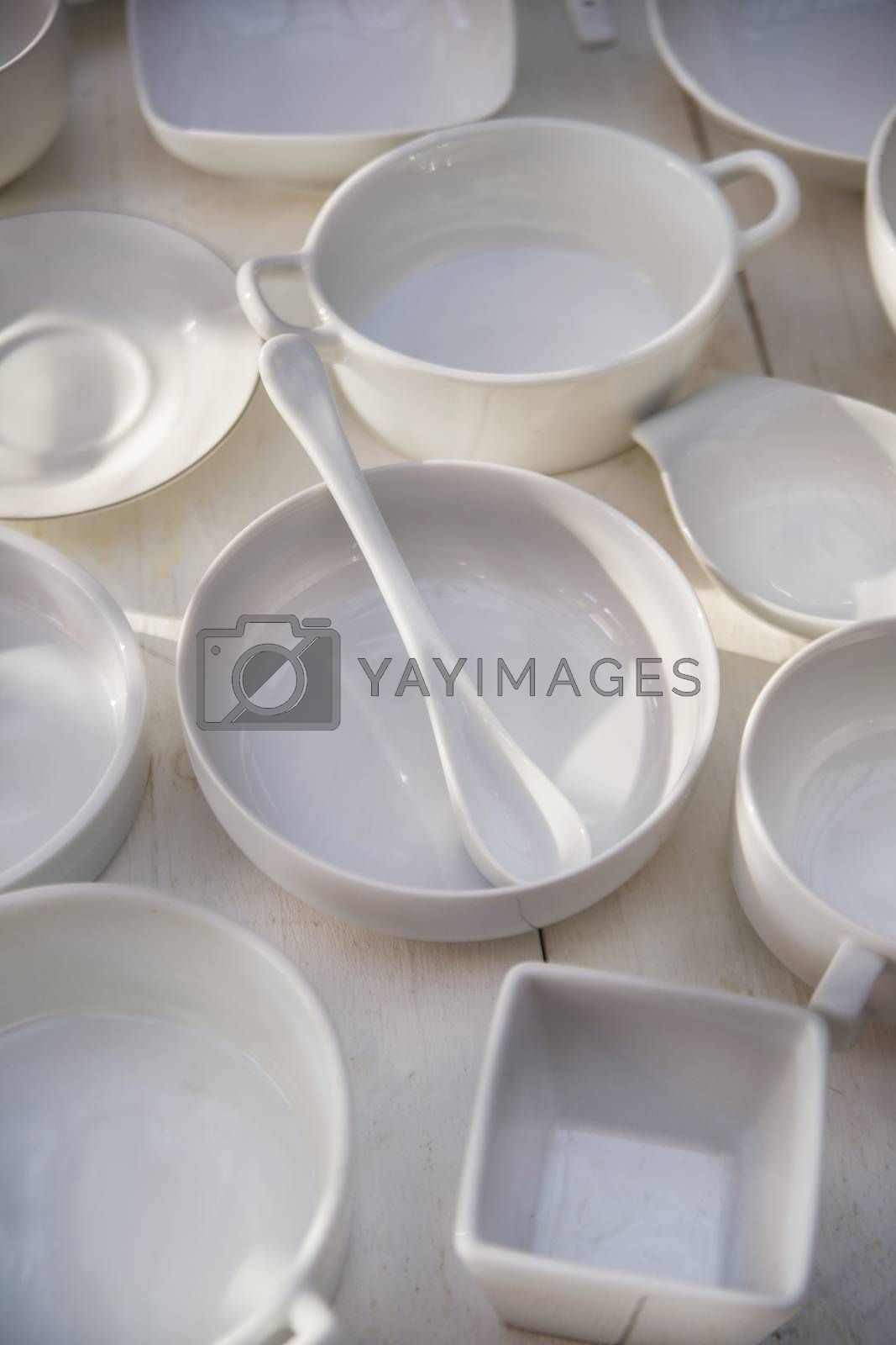Royalty free image of Series of small containers for the kitchen  by marcoguidiph