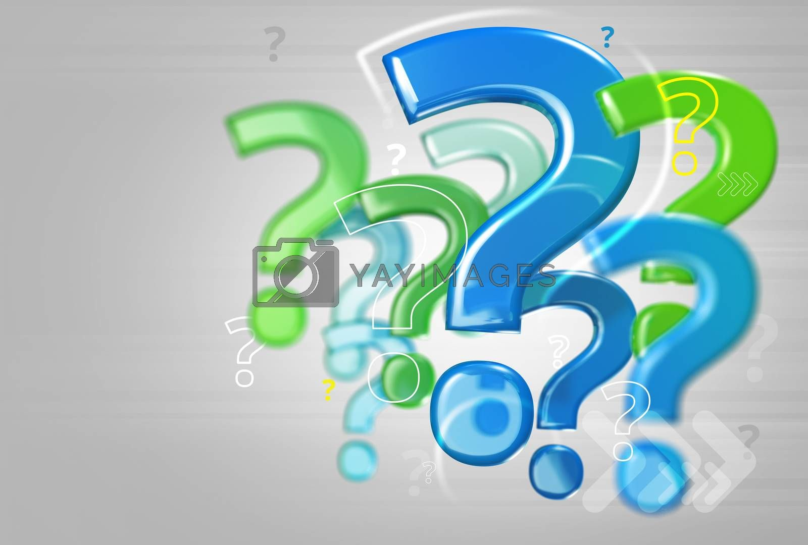Royalty free image of Background with question marks by pikaczy