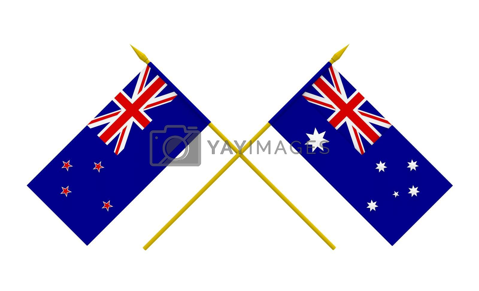 Royalty free image of Flags, Australia and New Zealand by Boris15
