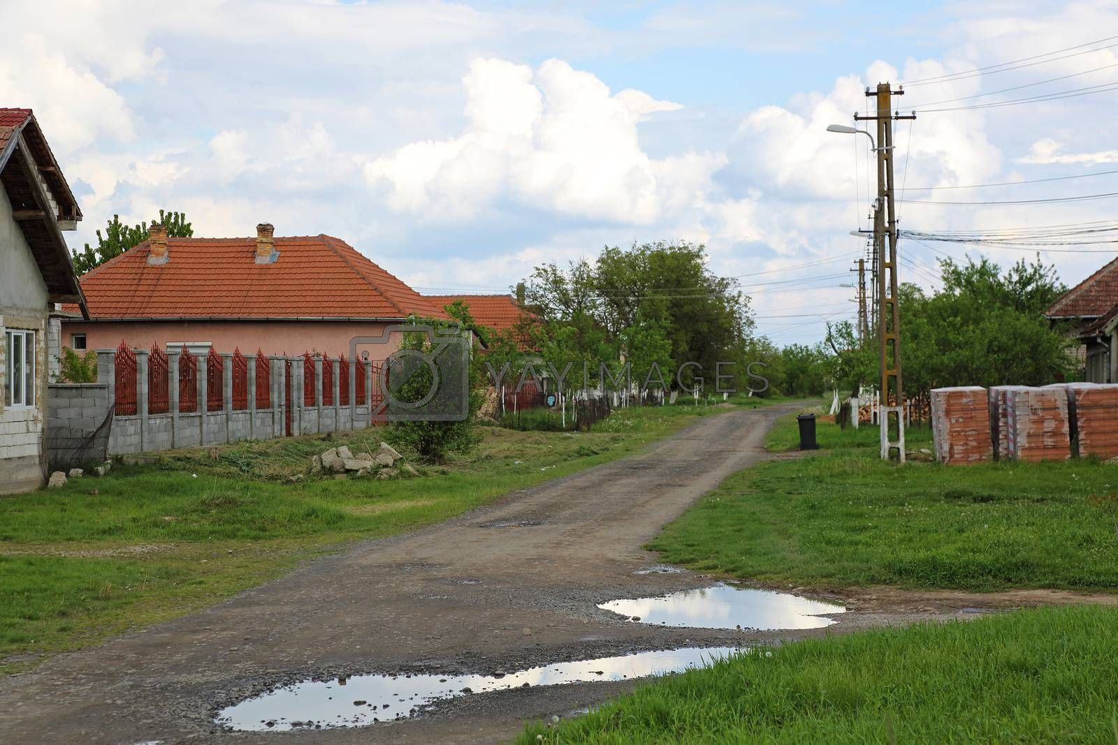 Royalty free image of Village in Romania by Baloncici