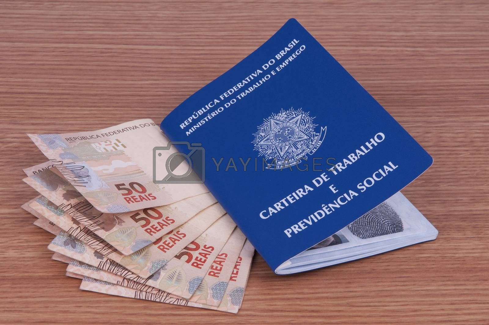 Royalty free image of Brazilian work document and social security document (carteira d by rodrigobellizzi