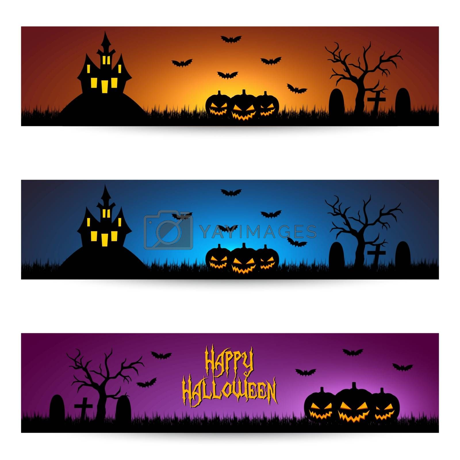 Royalty free image of Halloween banners by simo988