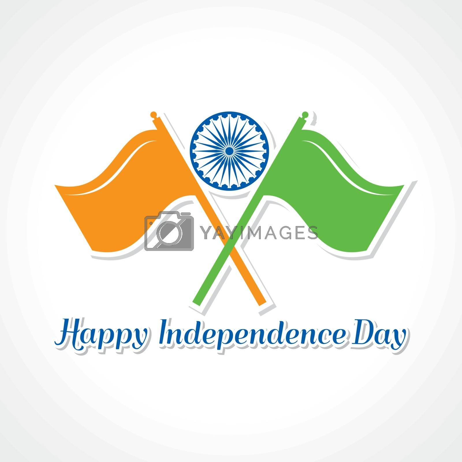 Royalty free image of Happy independence day greeting card by graphicsdunia4you