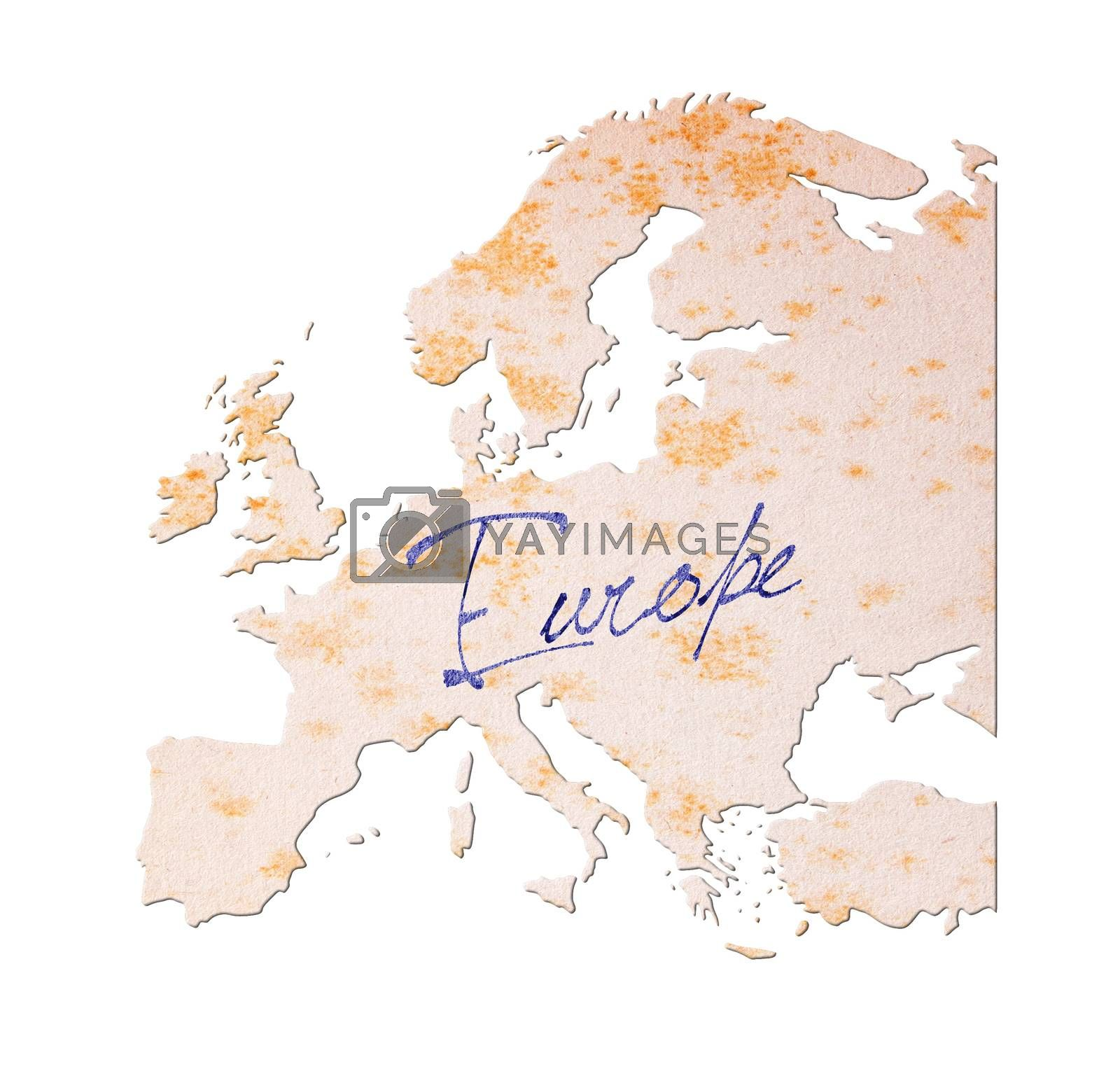 Royalty free image of Europe - Old paper with handwriting by michaklootwijk