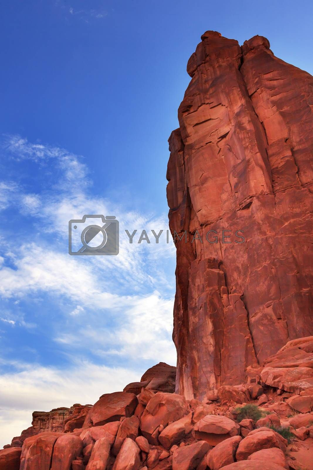 Royalty free image of Rock Tower Park Avenue Section Arches National Park Moab Utah  by bill_perry