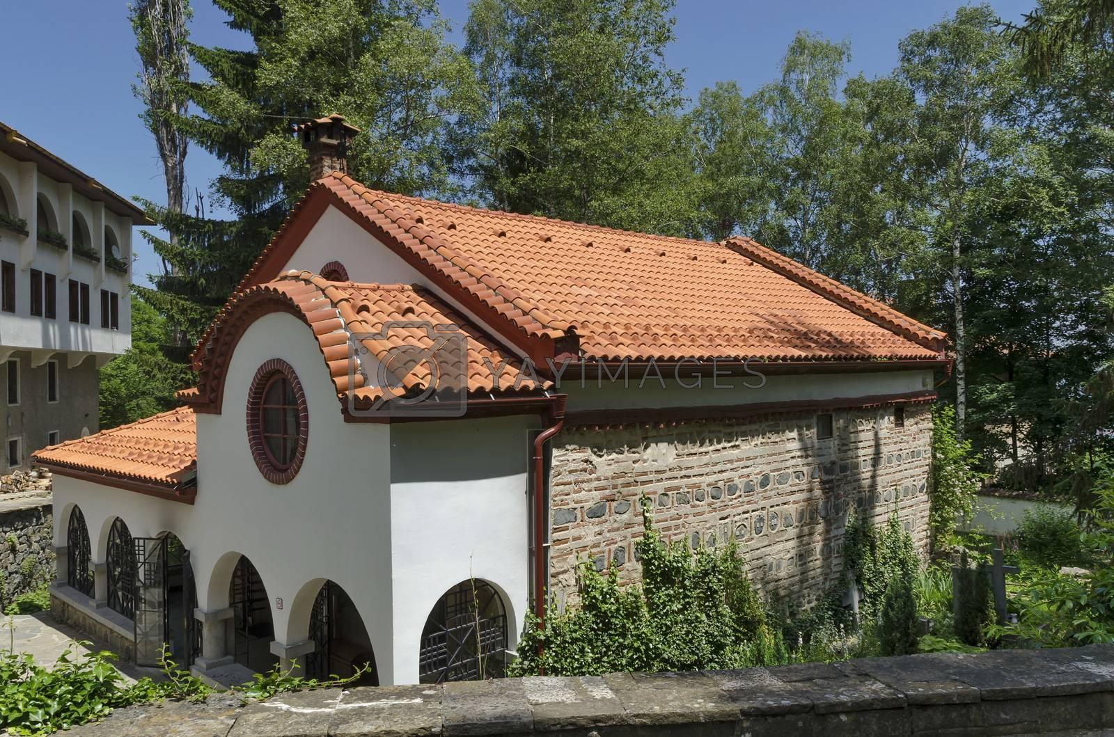 Royalty free image of Dragalevtsi Monastery, Vitosha mountain by intsys