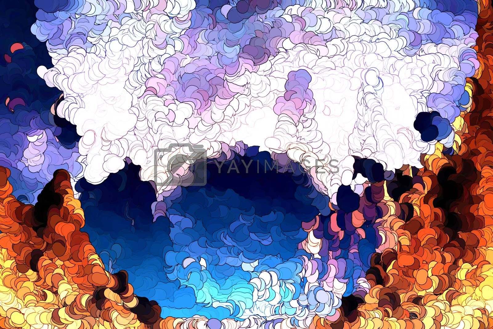 Royalty free image of Mountains abstract painting by Nonneljohn