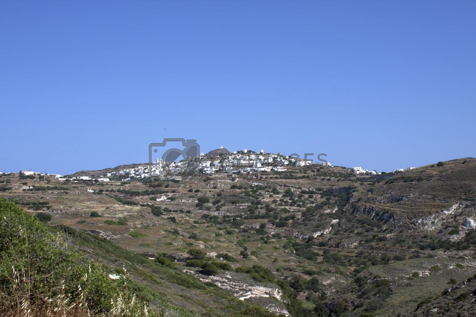 Royalty free image of Typical Cycladic town by Arsen