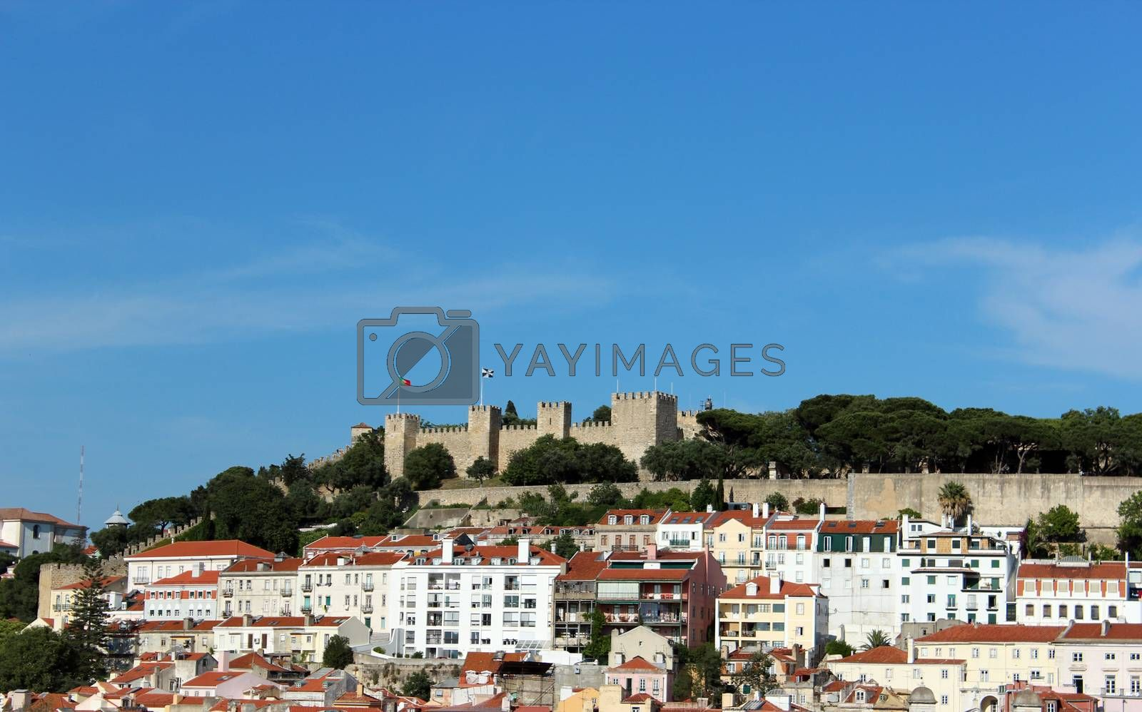 Royalty free image of Saint George's Castle in Lisbon by aamulya