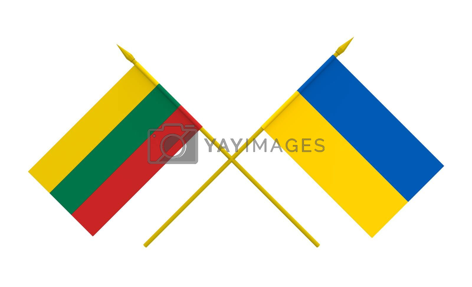 Royalty free image of Flags, Lithuania and Ukraine by Boris15