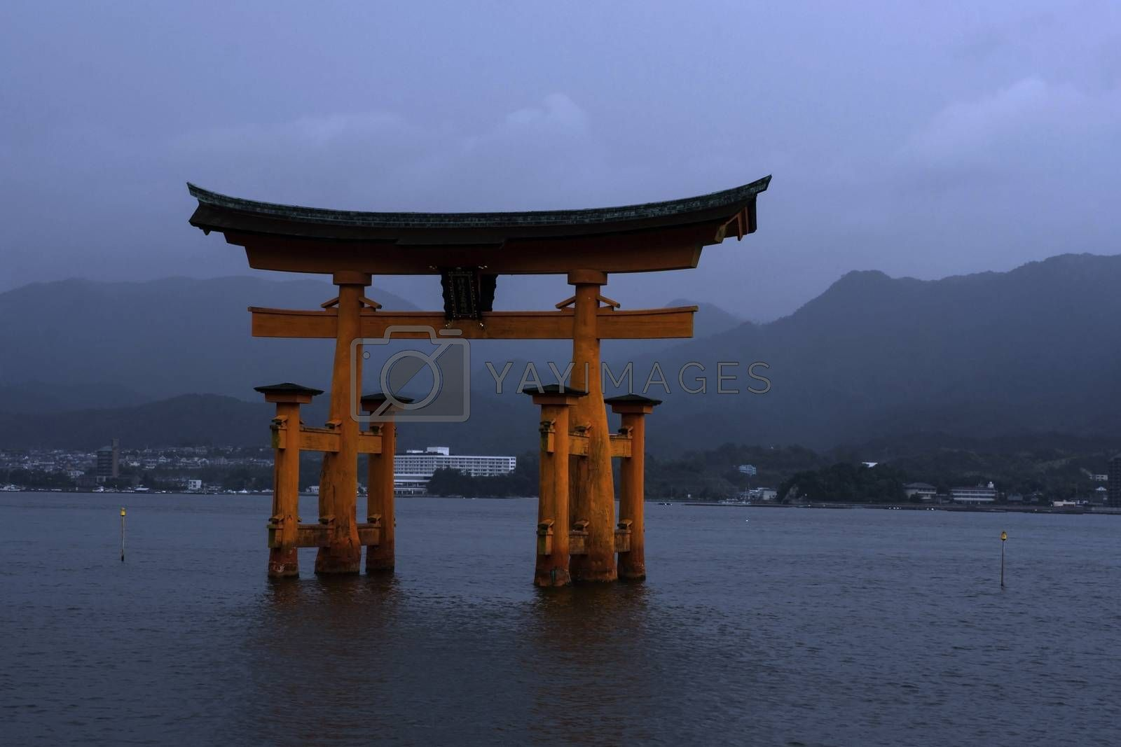 Royalty free image of Torii gate in Miyajima, Japan by photosil