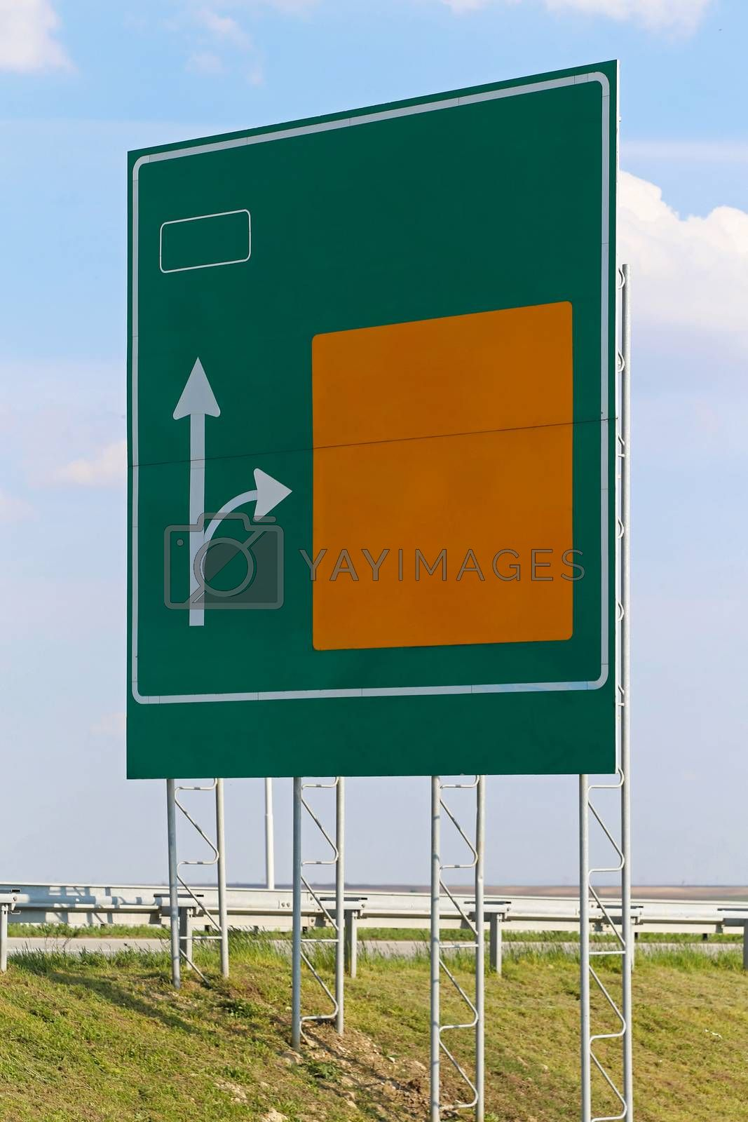 Royalty free image of Highway sign by Baloncici