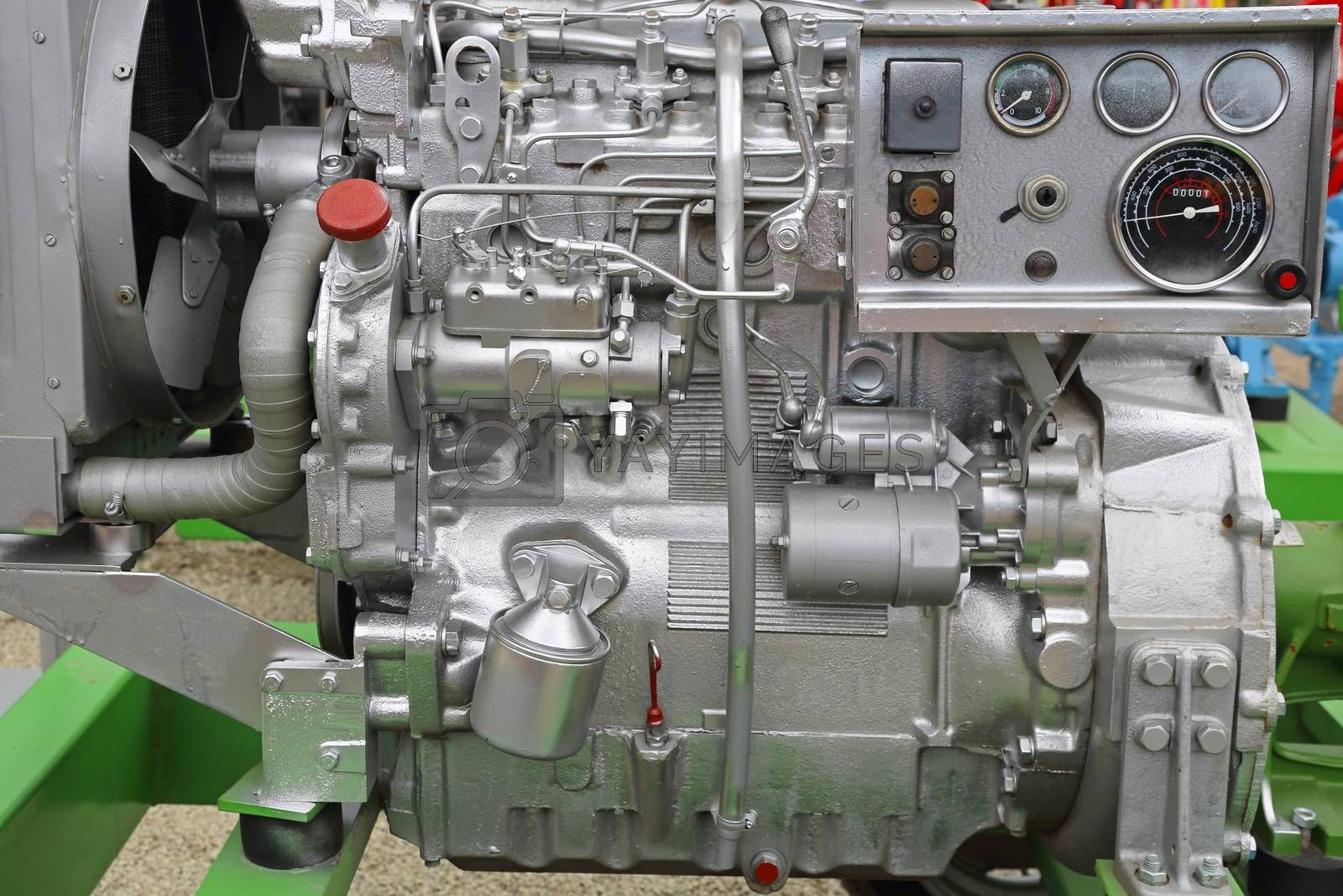 Royalty free image of Diesel engine by Baloncici