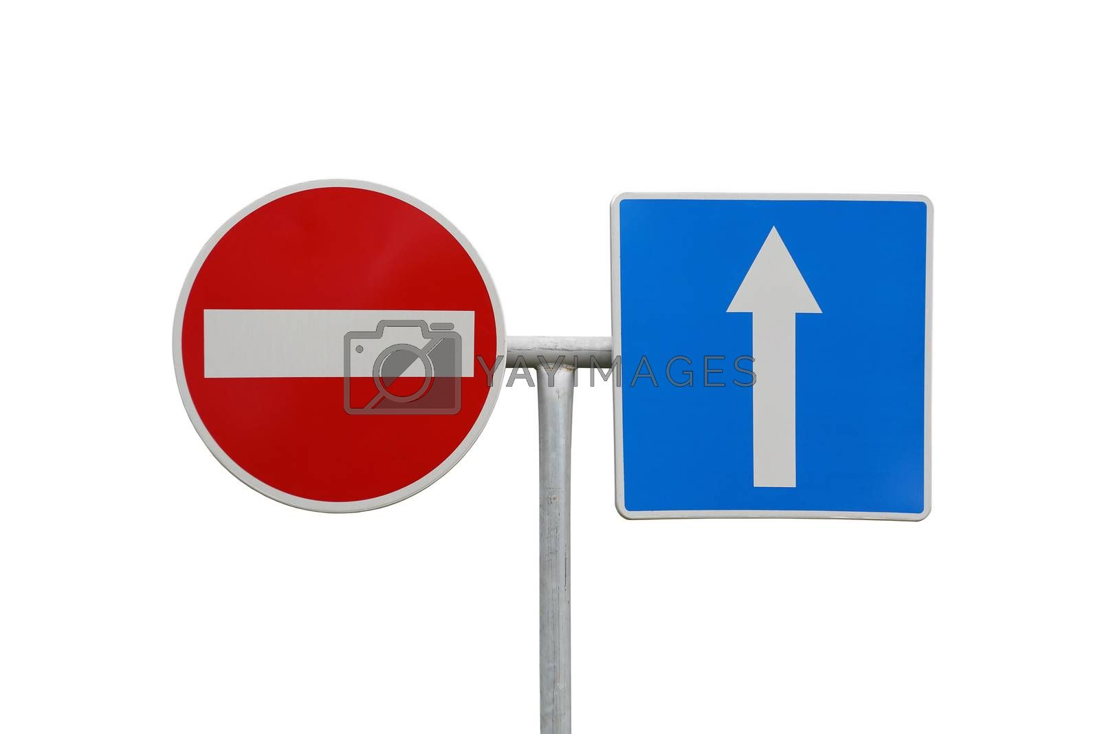 Royalty free image of Direction signs by Baloncici