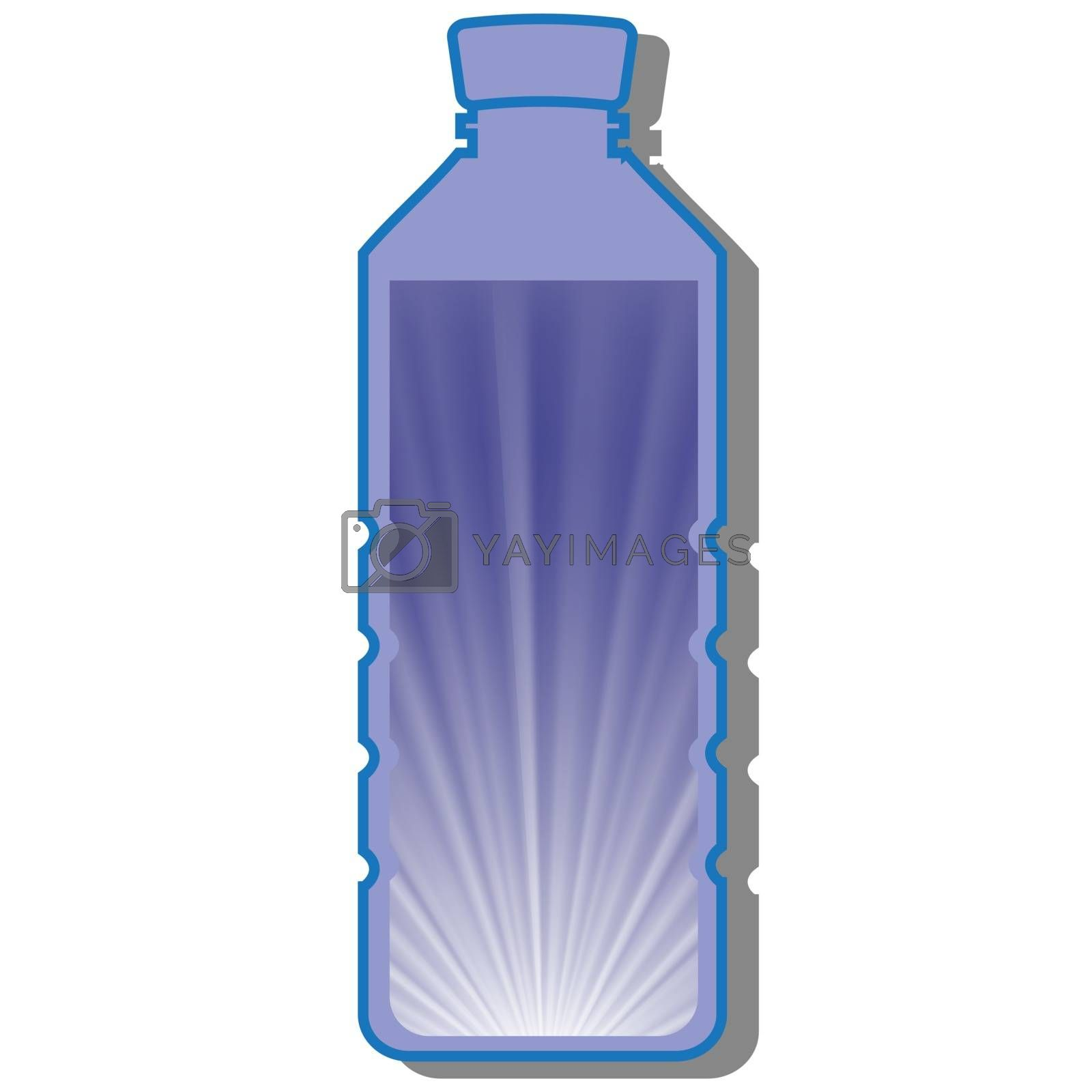 Royalty free image of bottle of water by valeo5