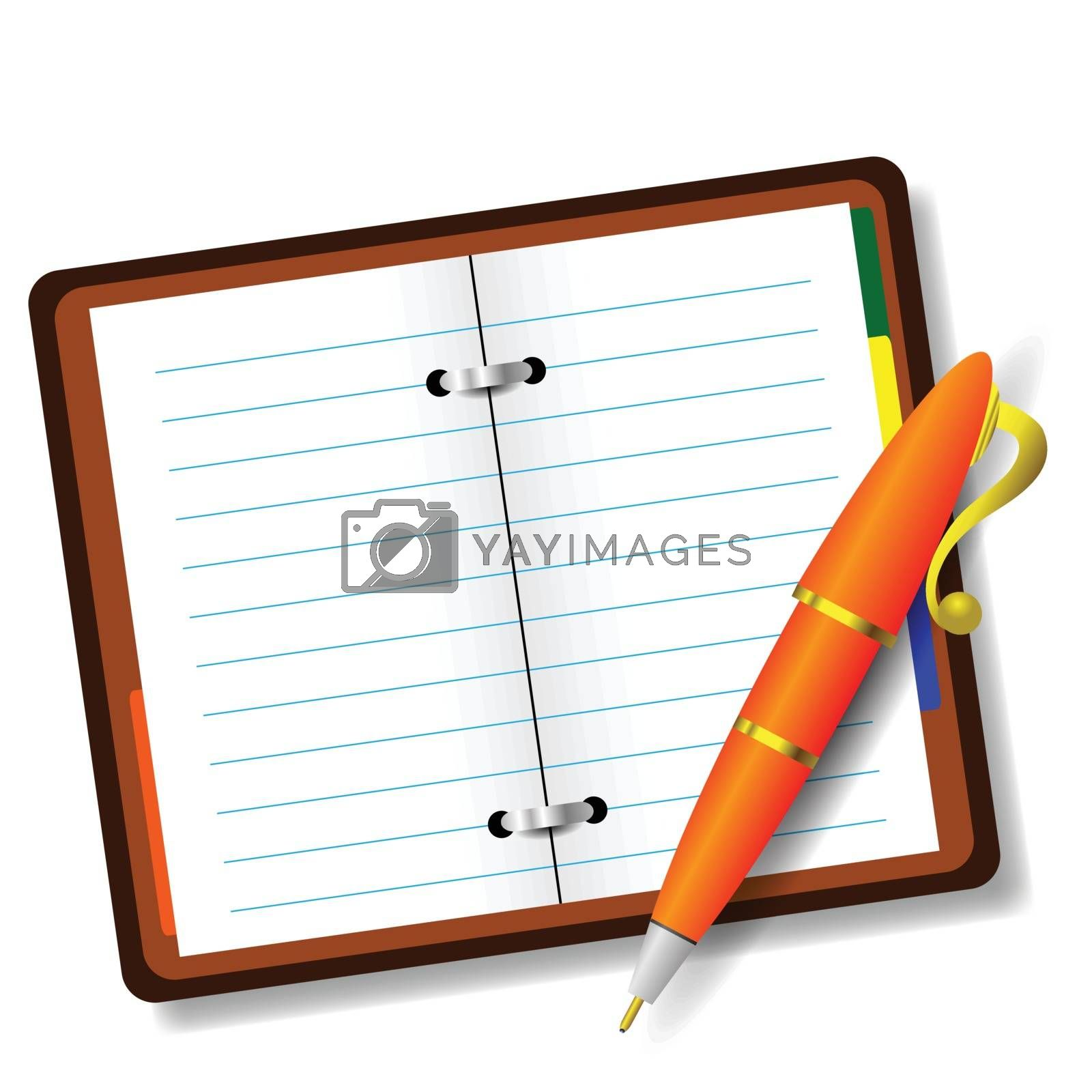 Royalty free image of pen and notebook by valeo5