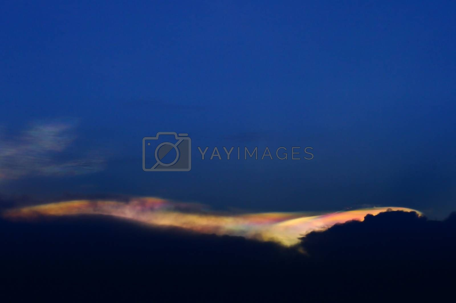Royalty free image of Rainbow Clouds, Irisation by pixbox77