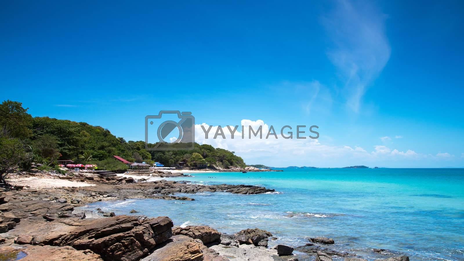 Idyllic Scene Beach at Samed Island,Thailand