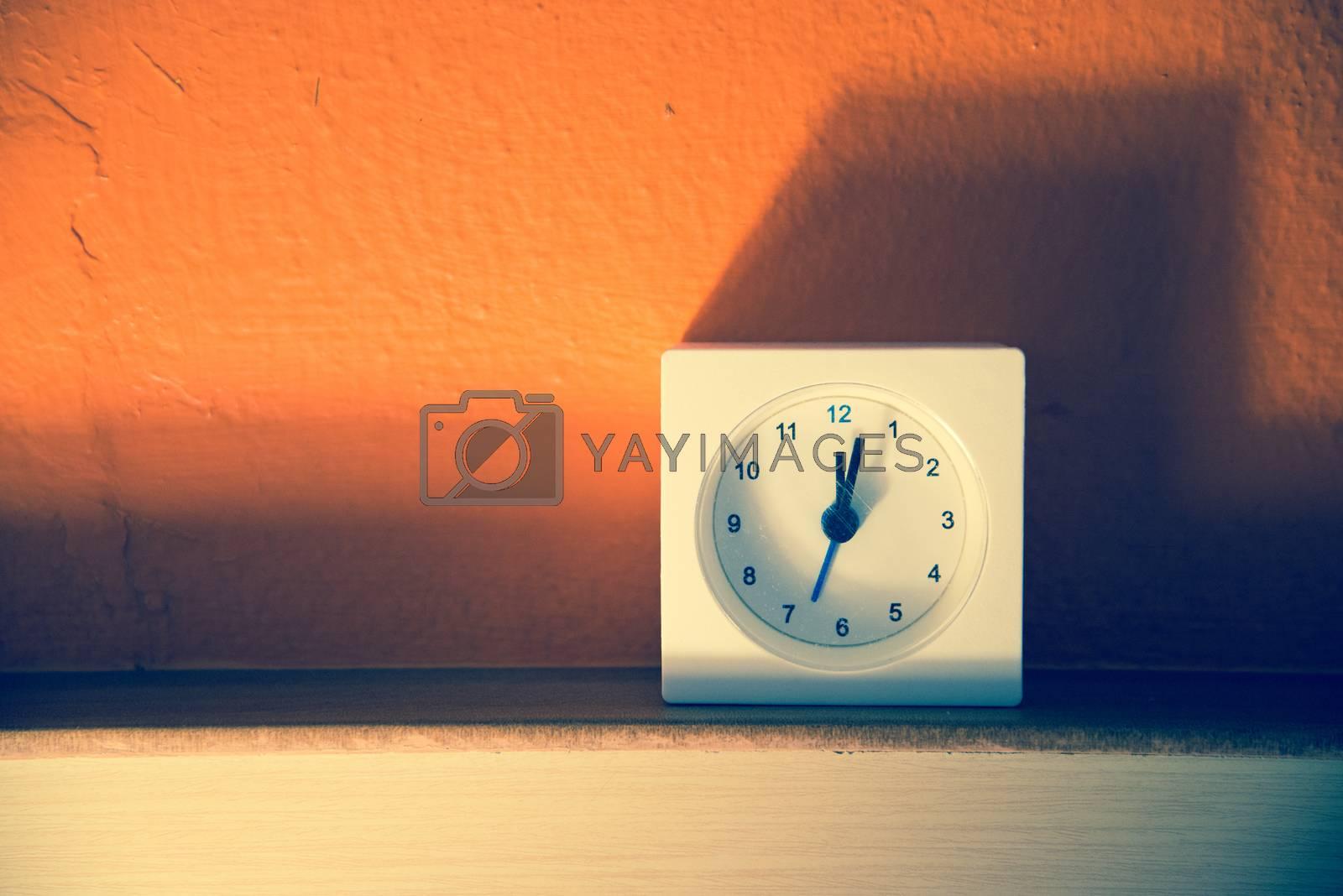 Clock , Filtered image:cross processed vintage effect