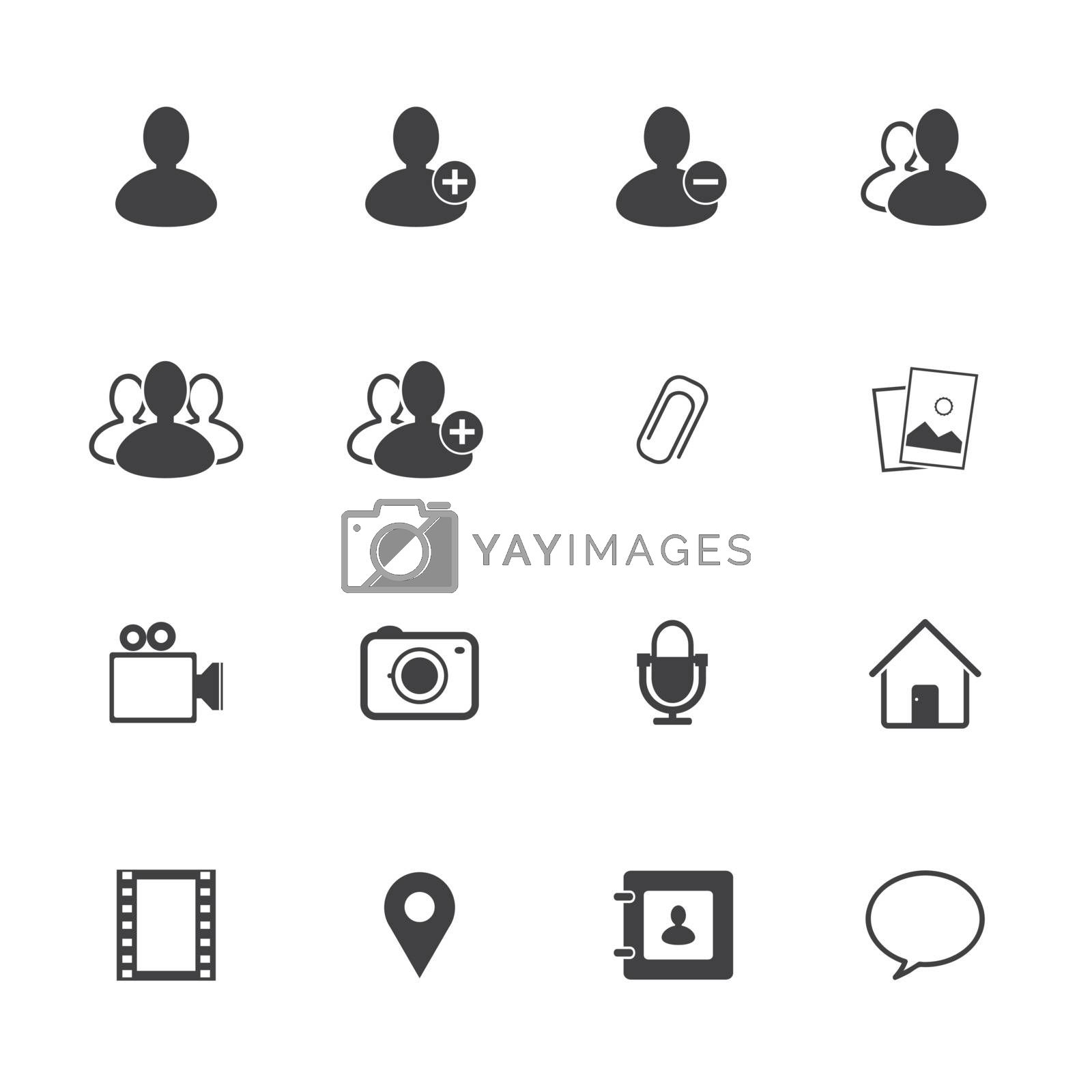 Chat icons set