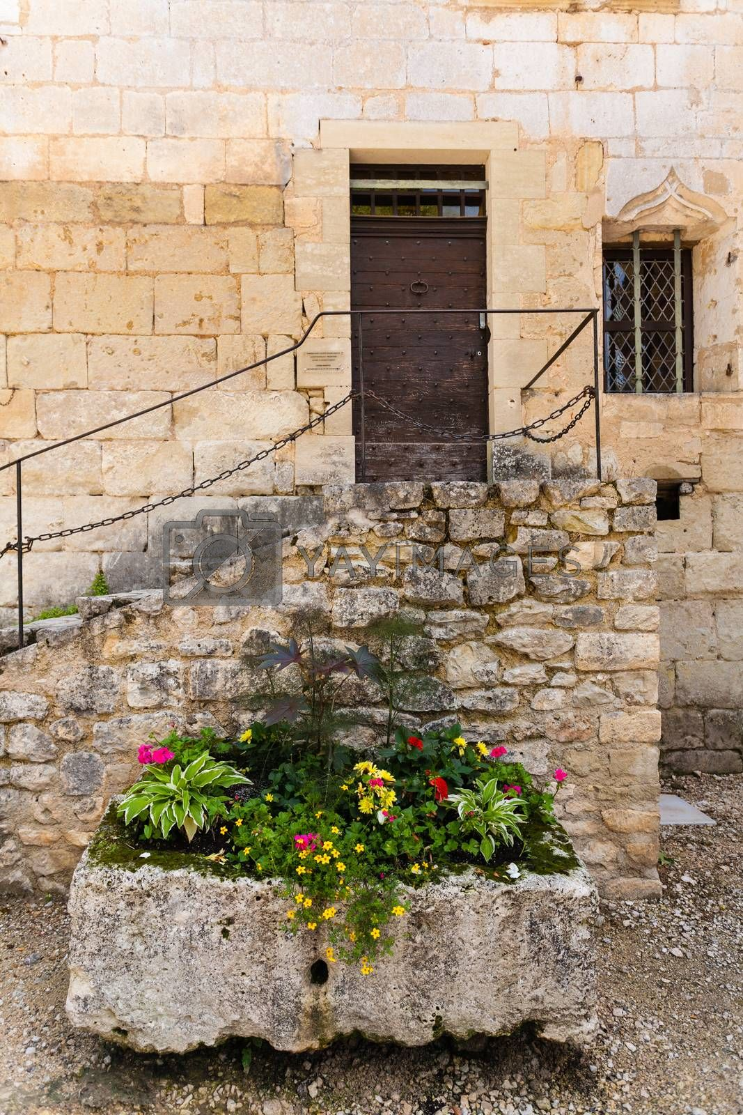 colorful flower box and stairs by imagsan