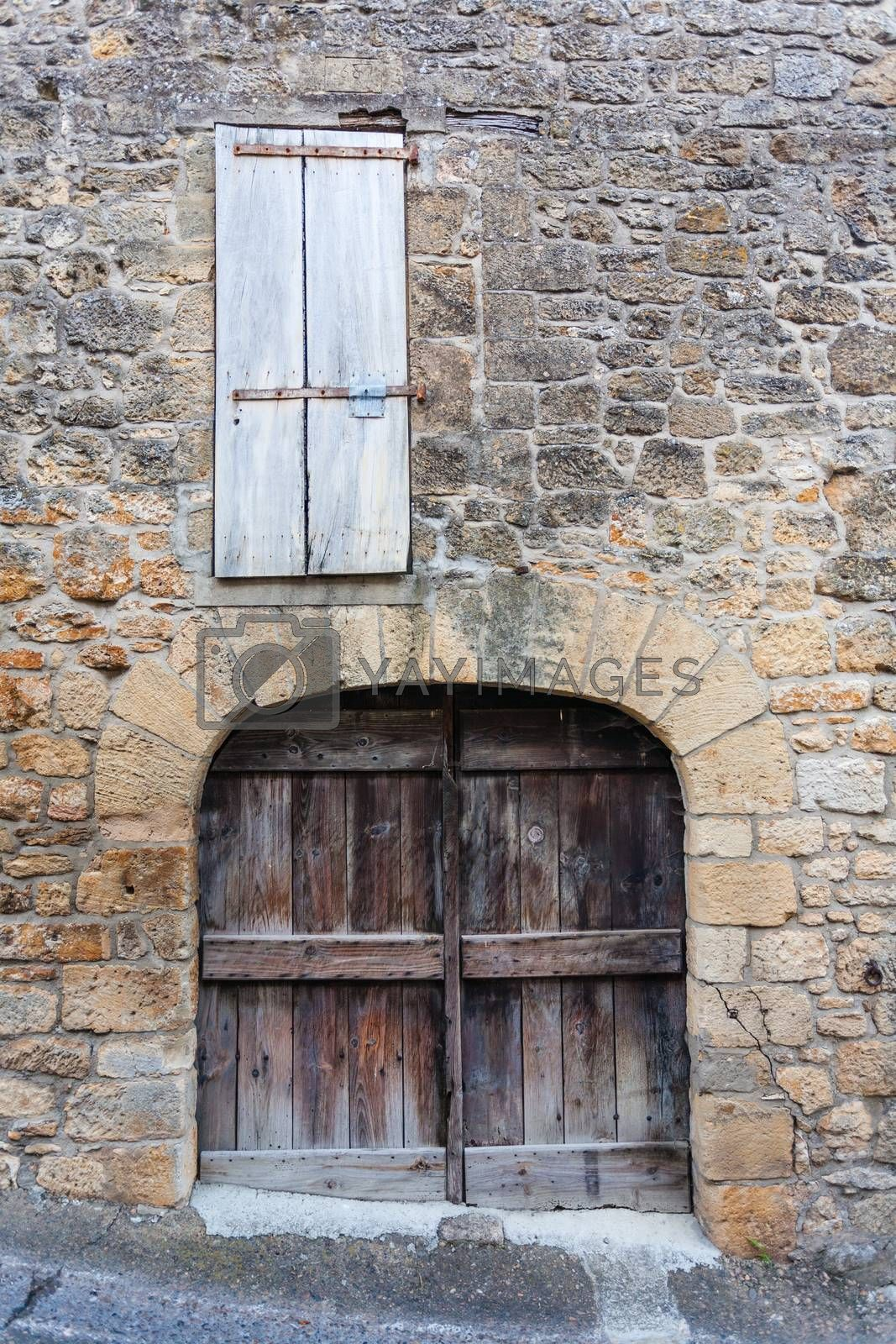Old door and window in Dordogne by imagsan