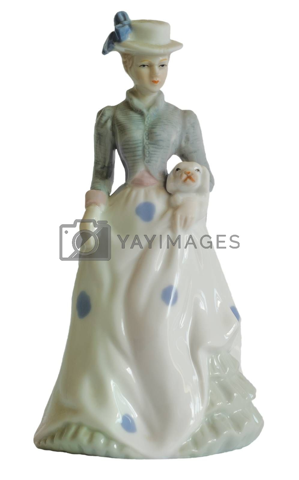 Porcelain figure Ladies