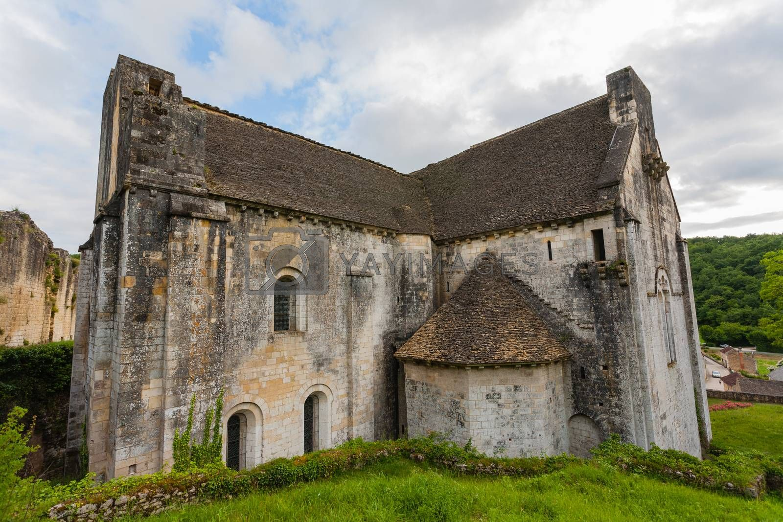 Saint Amand de Coly church in Dordigne ,France by imagsan