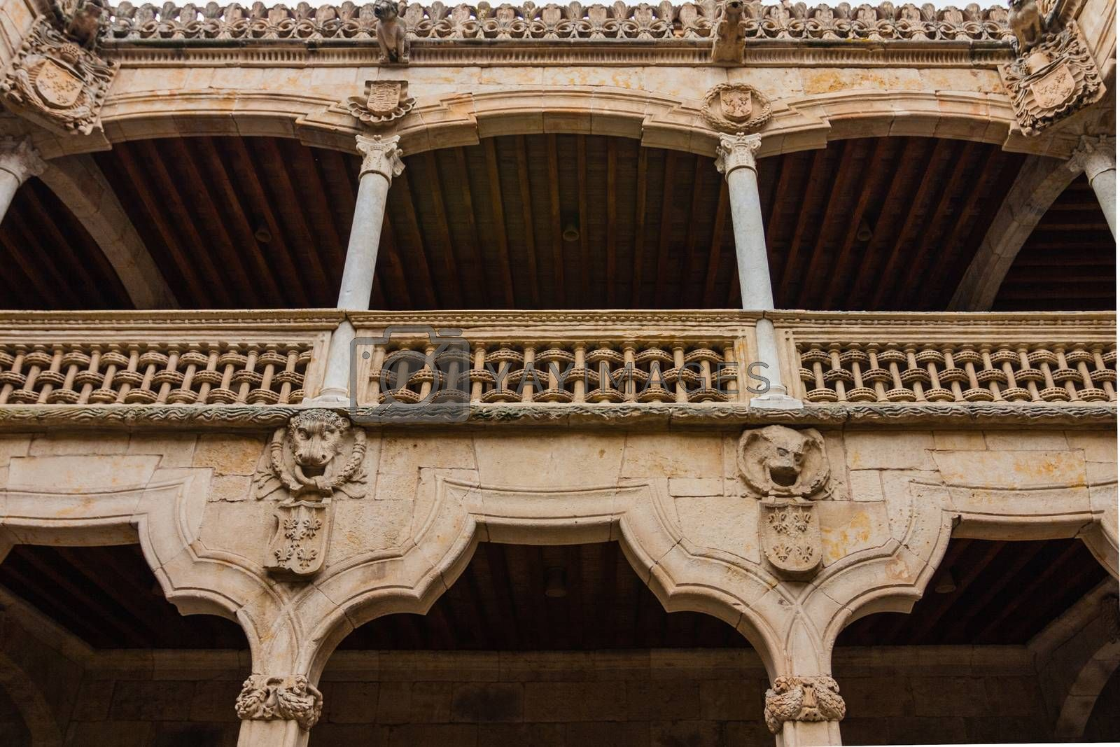 View of beautiful balcony in the House of Shells courtyard Salam by imagsan