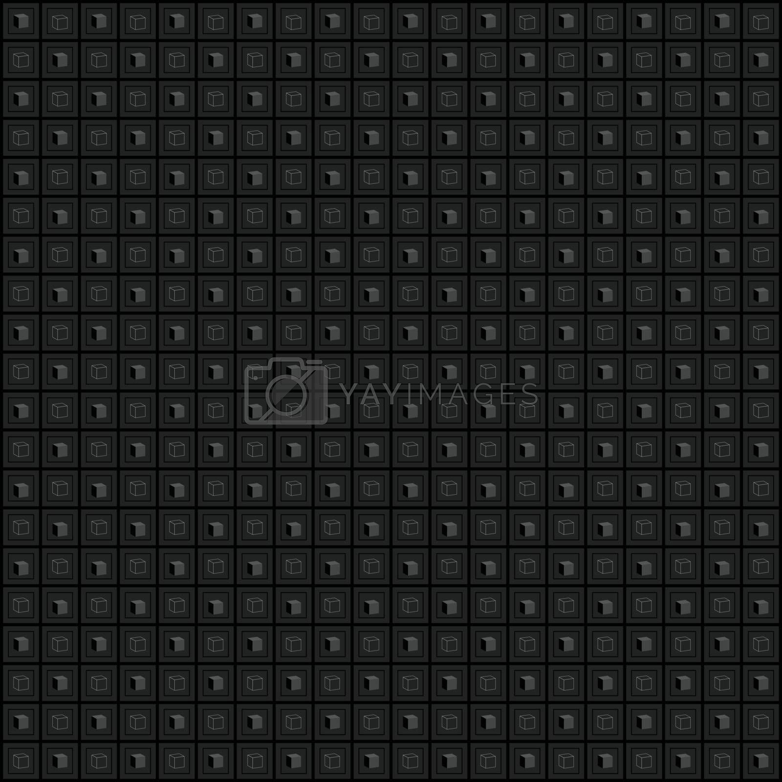 Seamless abstract background pattern, texture. Cubes.