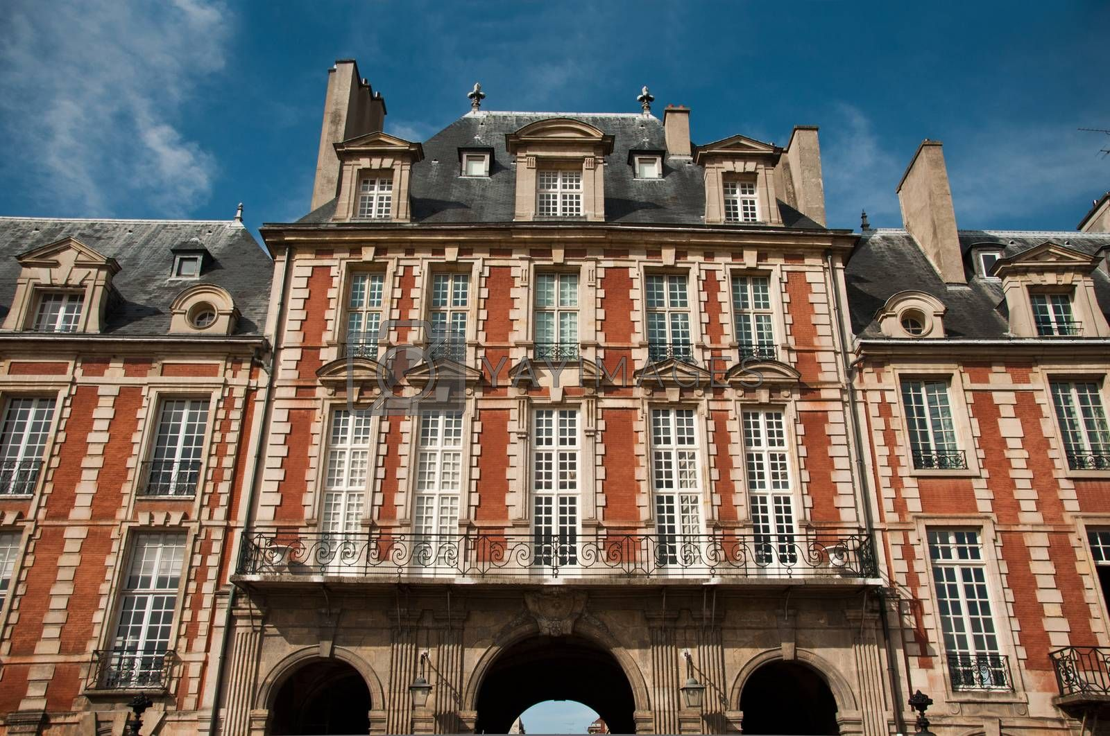 Royalty free image of Building place of Vosges in Paris by NeydtStock