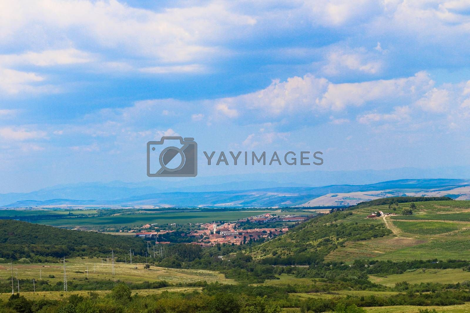 View from the Top over Transylvania Romania