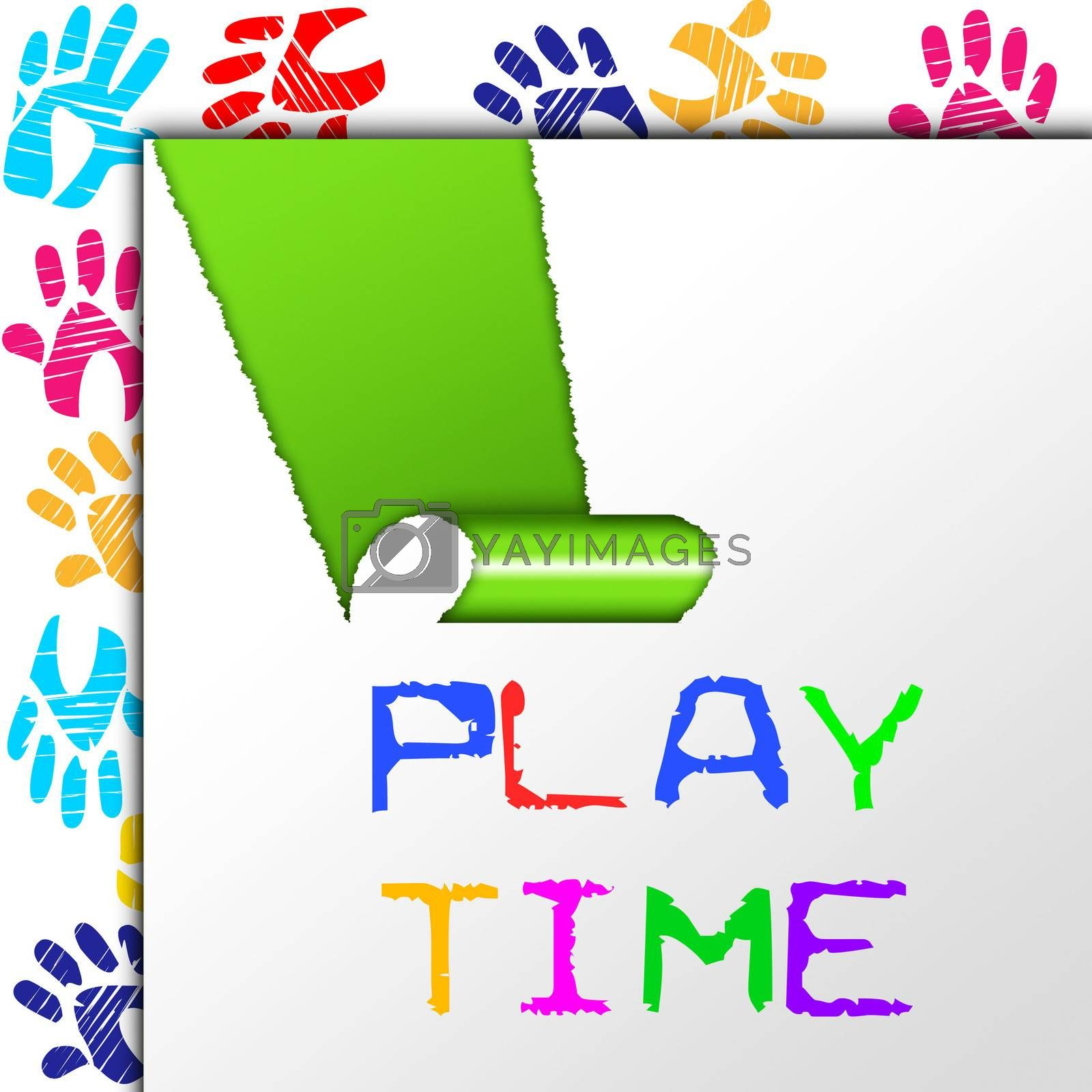 Play Time Showing Enjoyment Youngster And Recreation
