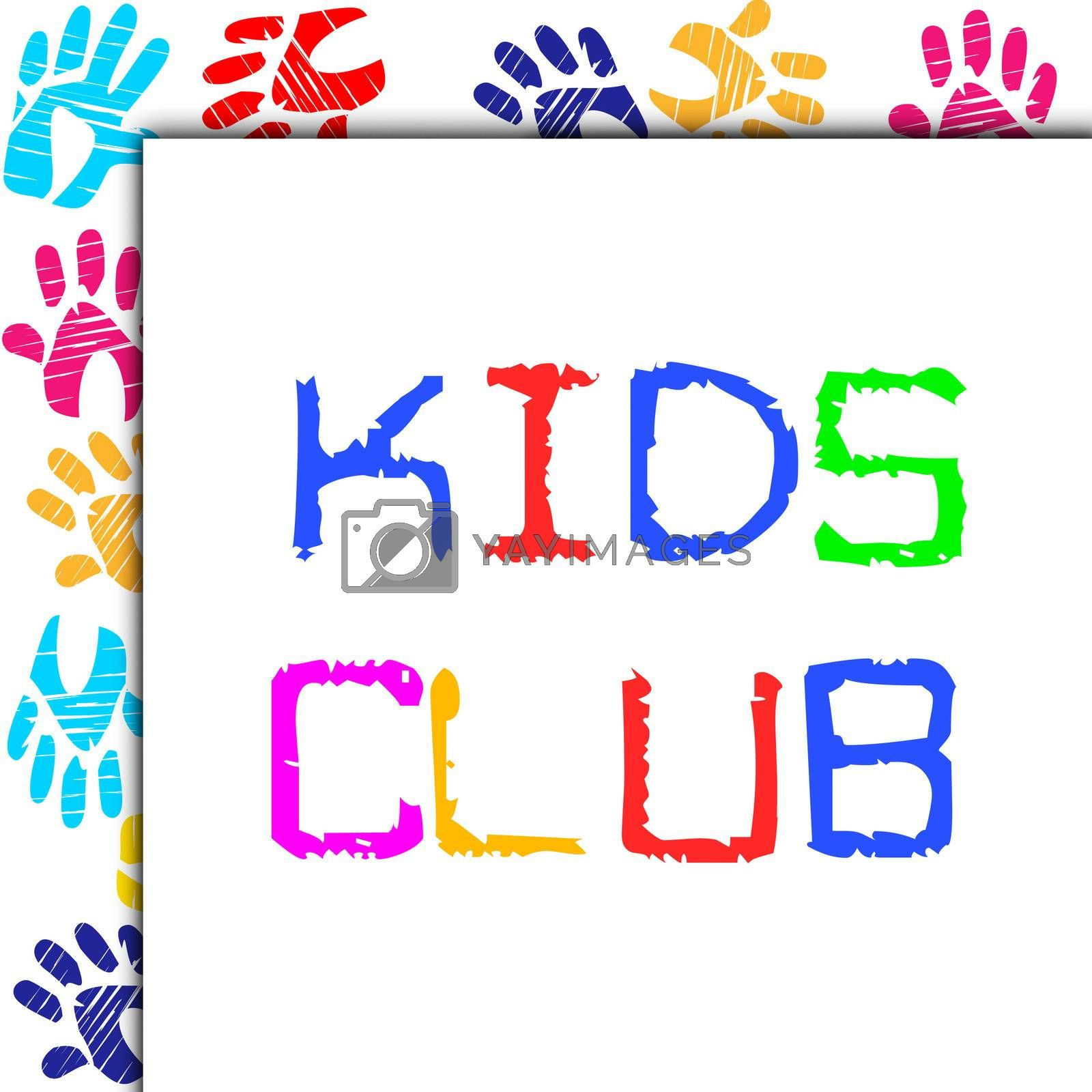 Kids Club Showing Team Join And Youth