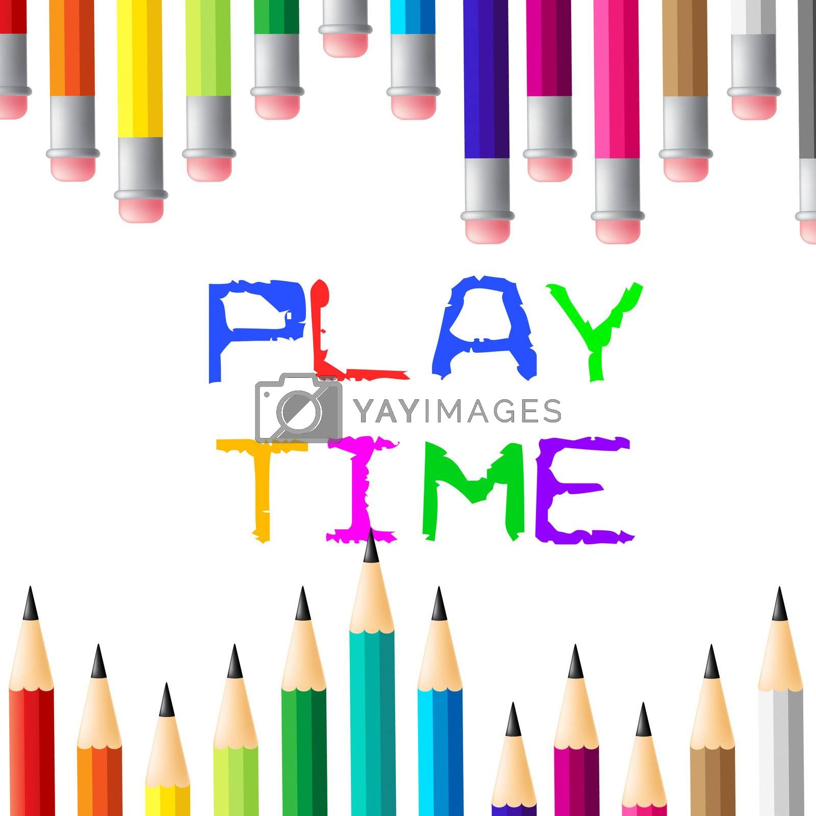 Play Time Showing Enjoy Enjoyment And Youths