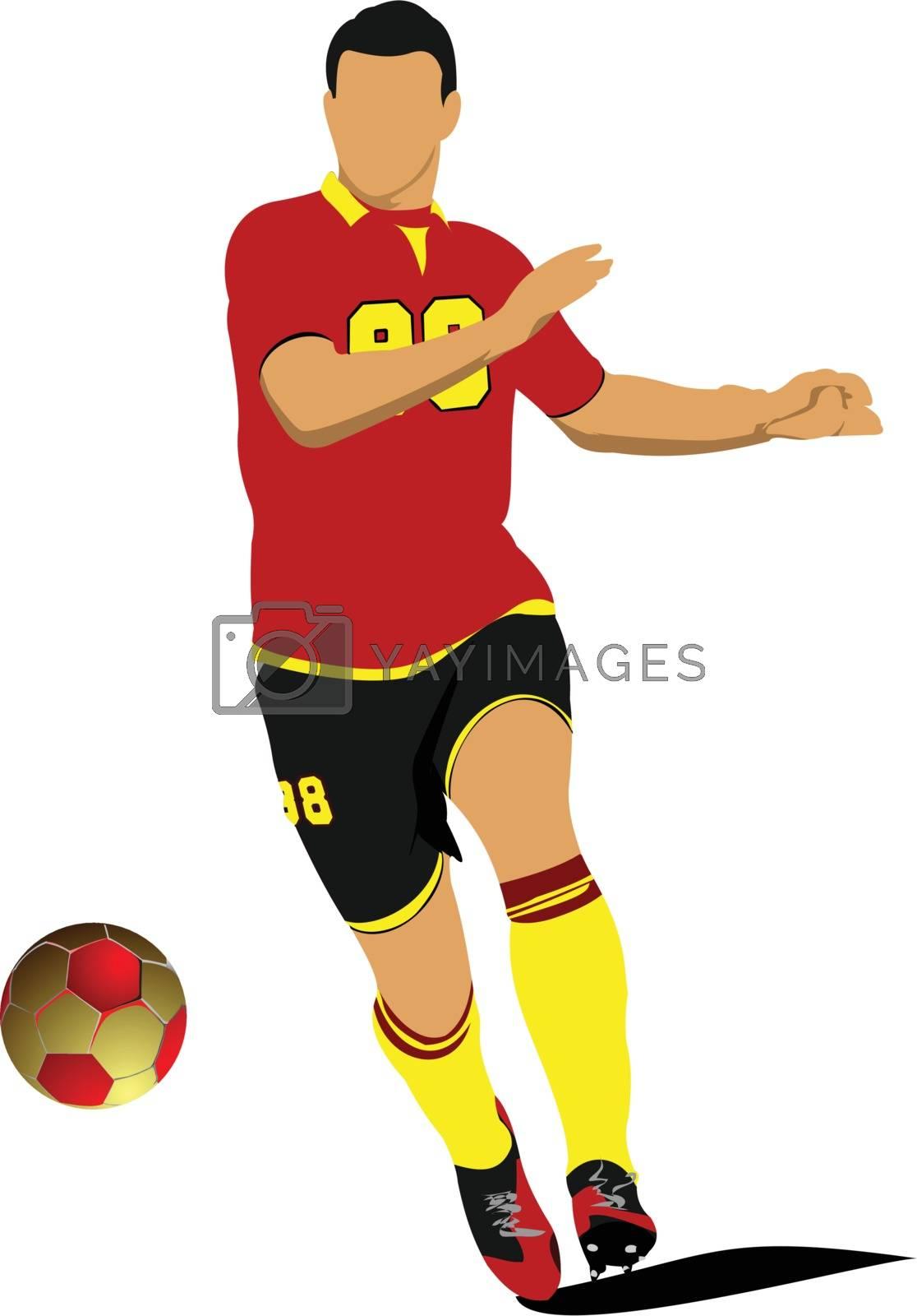Soccer player. Football player. Vector illustration