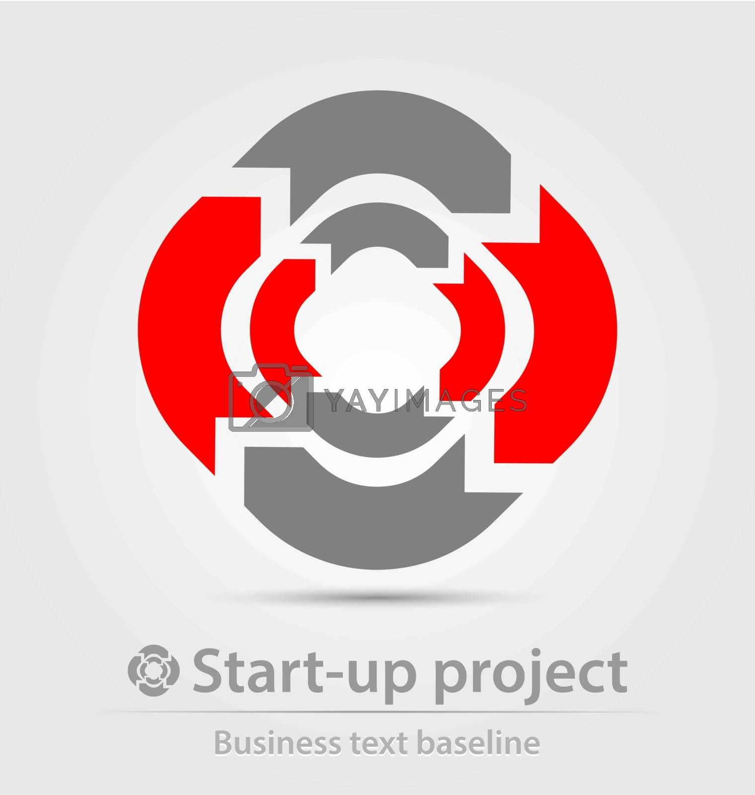 Start-up project business icon by stocklady