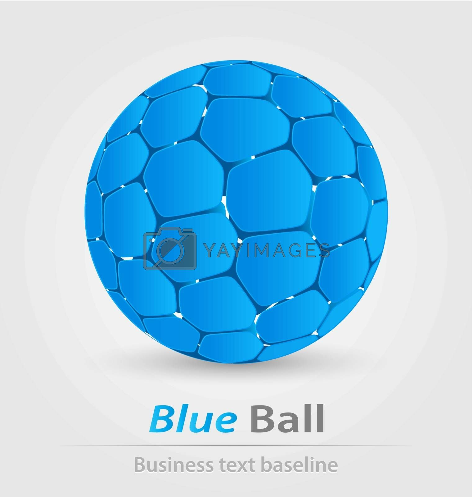 Blue ball elegant icon by stocklady