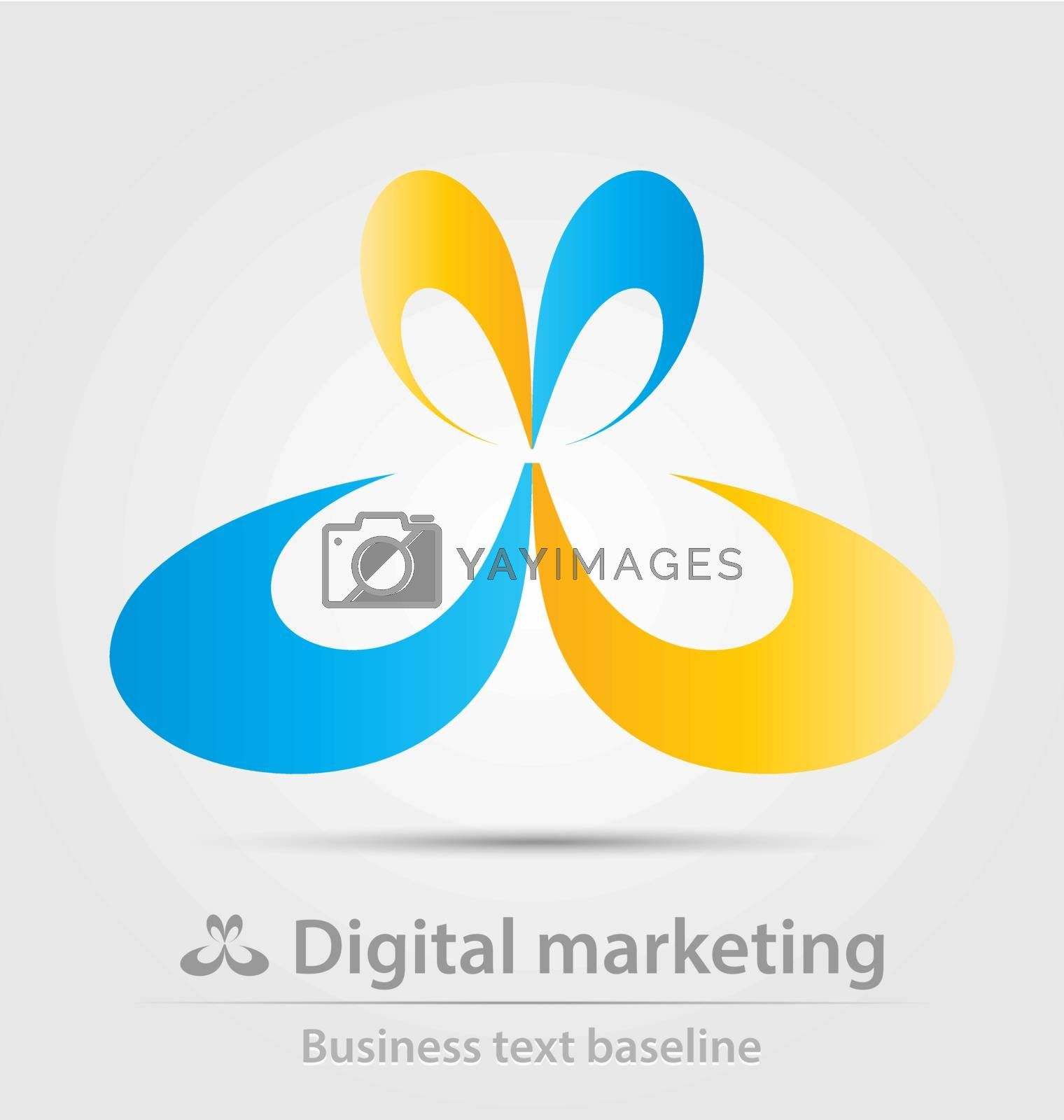 Digital marketing business icon for creative design