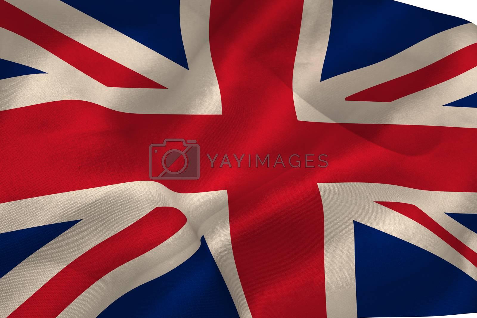 Union jack flag waving