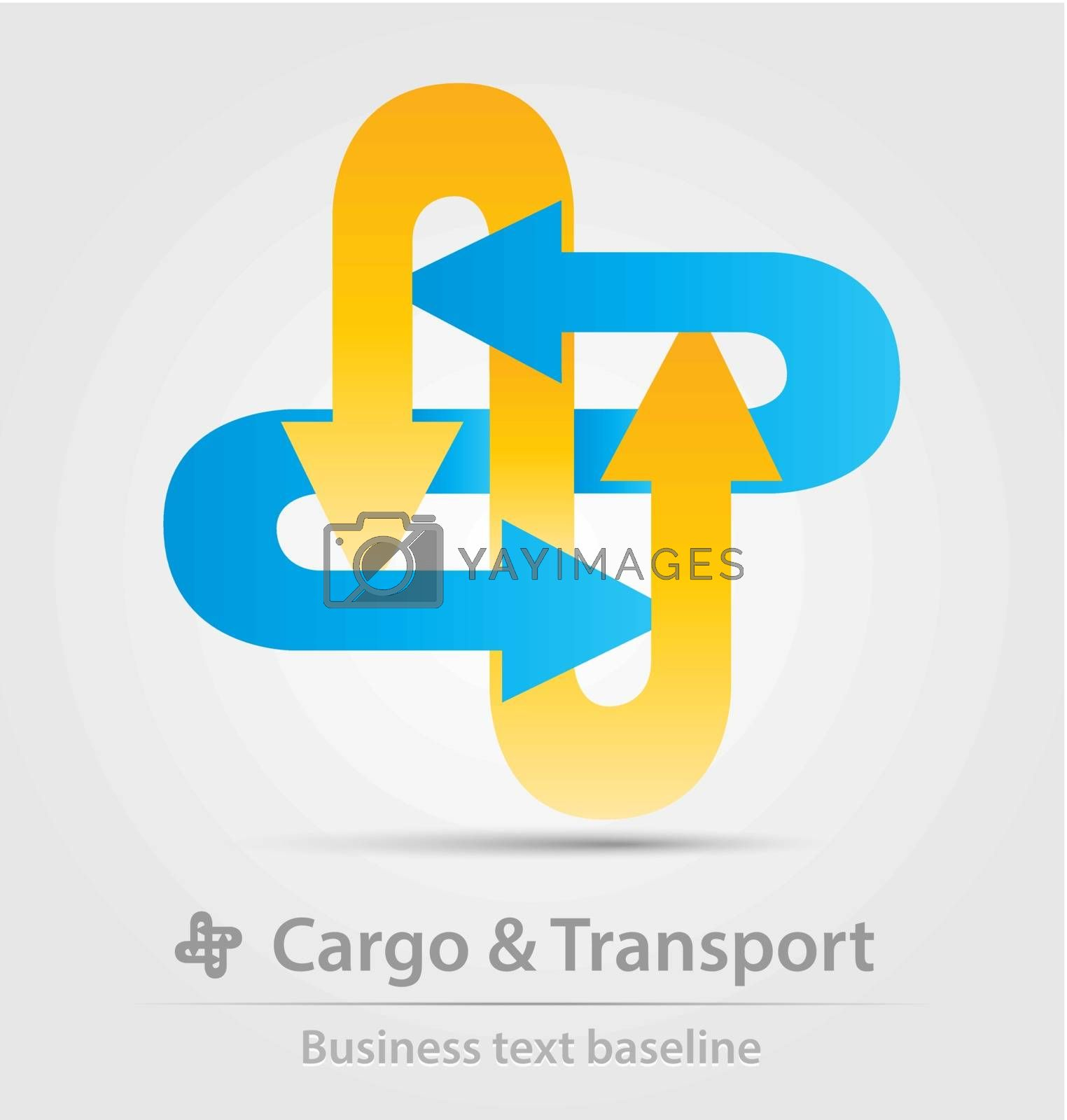 Cargo and transport business icon for creative design