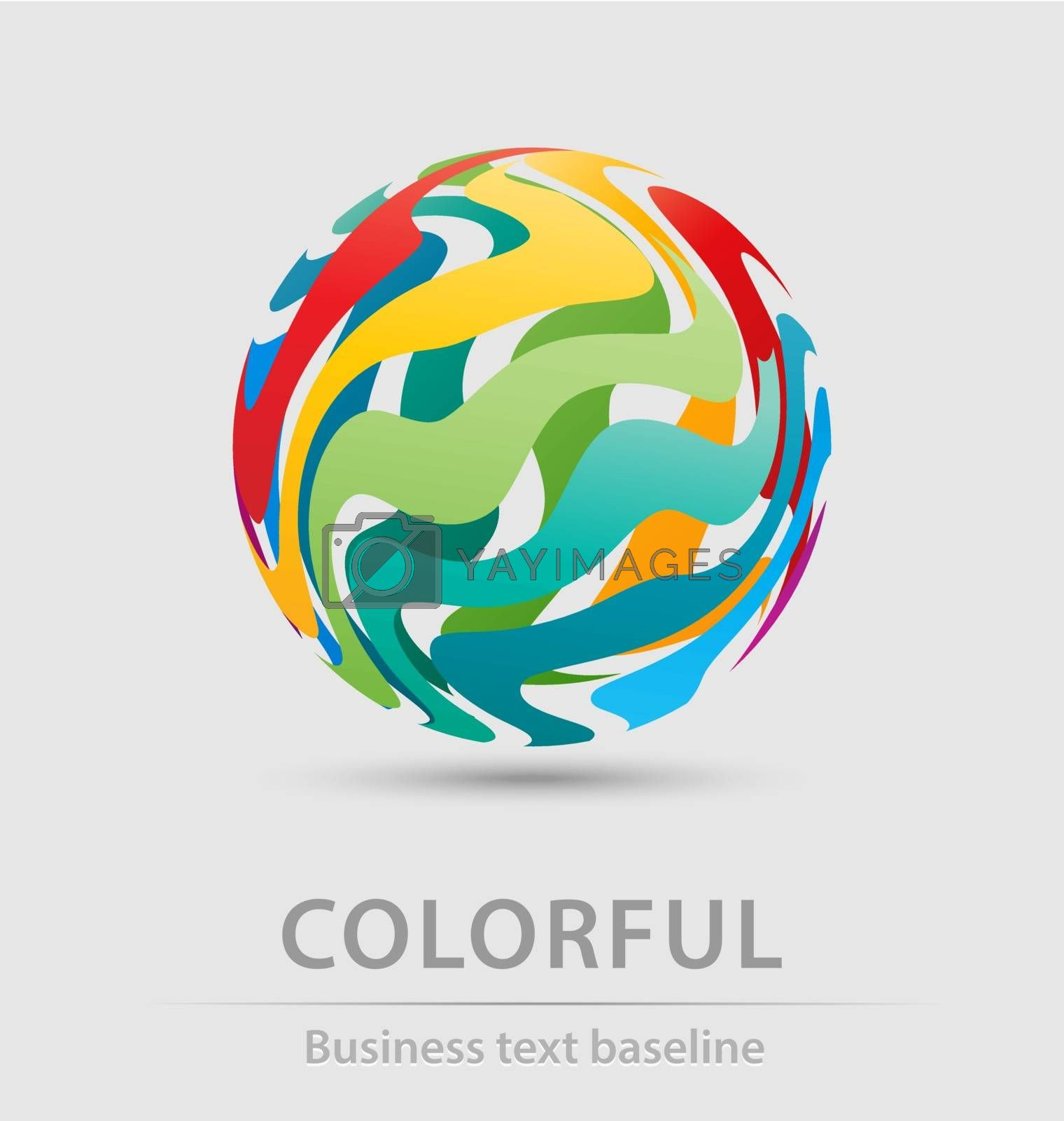 Colorful ball business icon for creative design